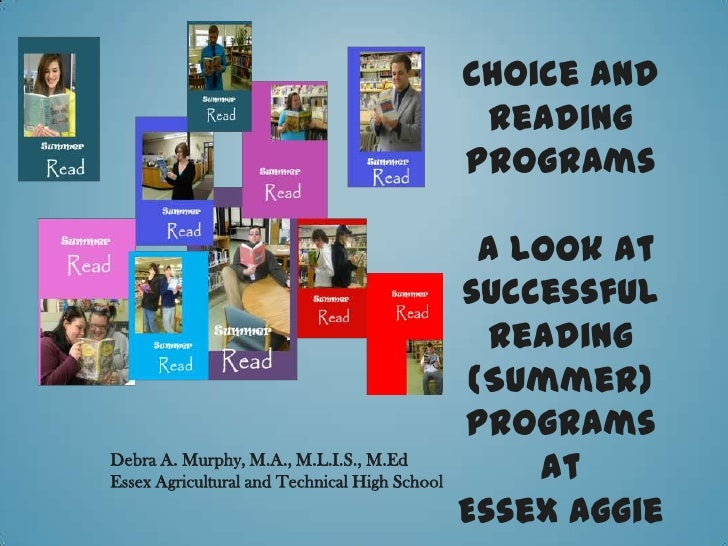 Choice and                                                Reading                                               Programs  ...