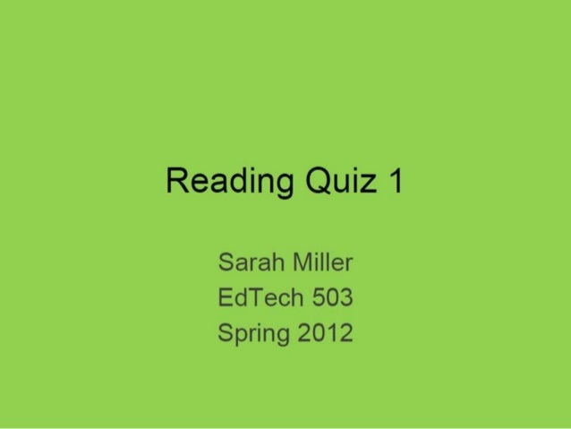 Reading Quiz Final