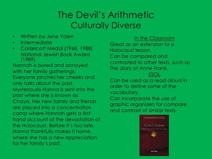 reading response to devil in a The devil's arithmetic prestwick powerpacks name: _____ date:_____ 5 what makes a good friend 6 what would happen if everyone in.