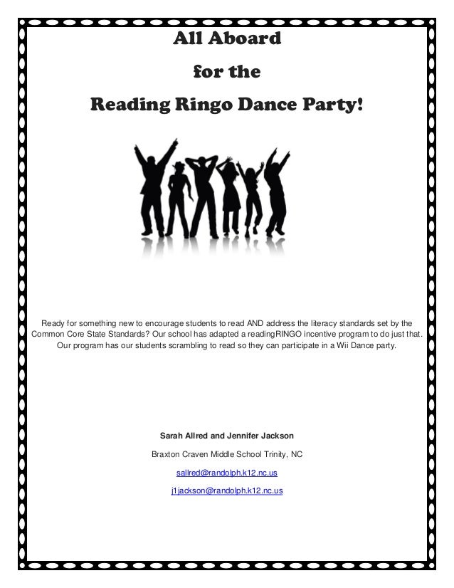 All Aboard                                         for the               Reading Ringo Dance Party!  Ready for something n...
