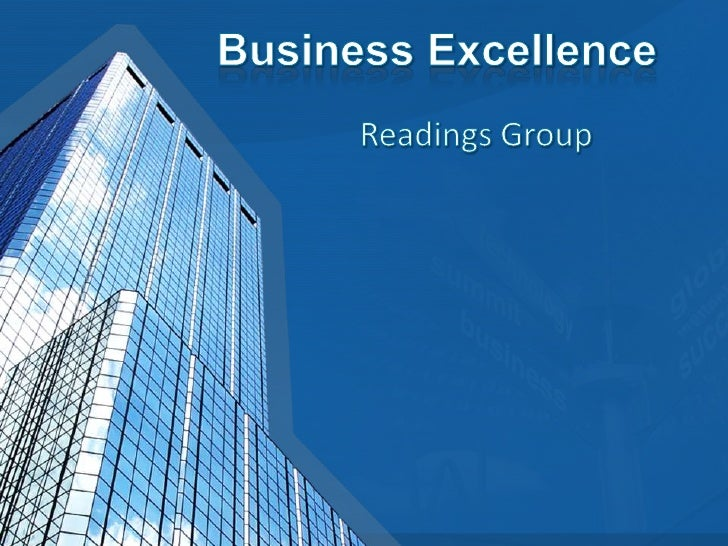 Business Excellence<br />Readings Group<br />