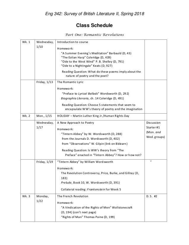 Reading schedule 2018