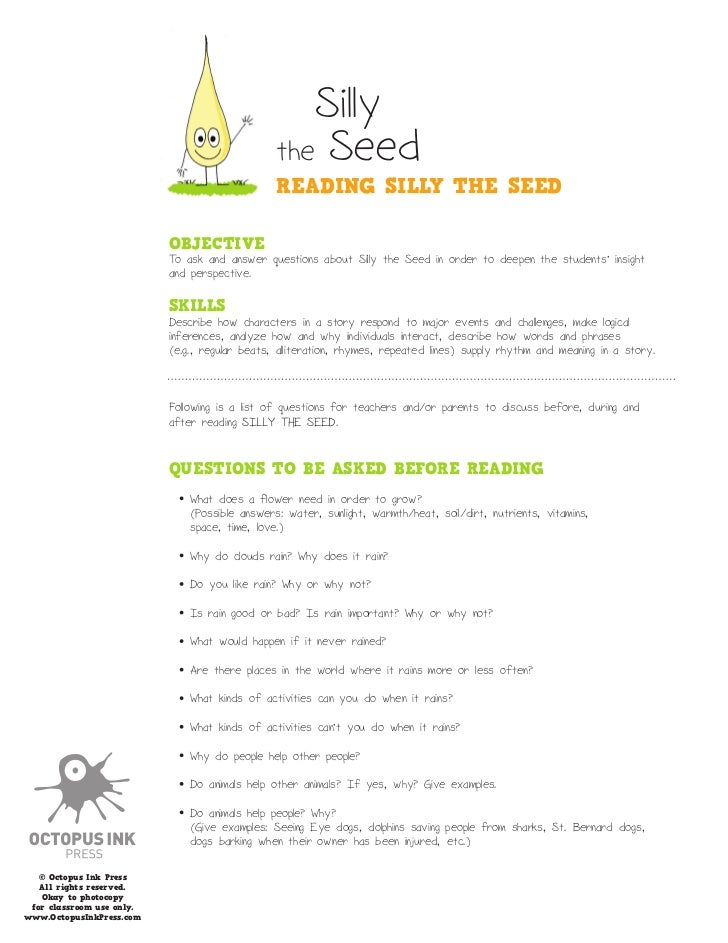 Silly                                                the Seed                                                READING SILLY...