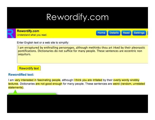 Rewordify.com