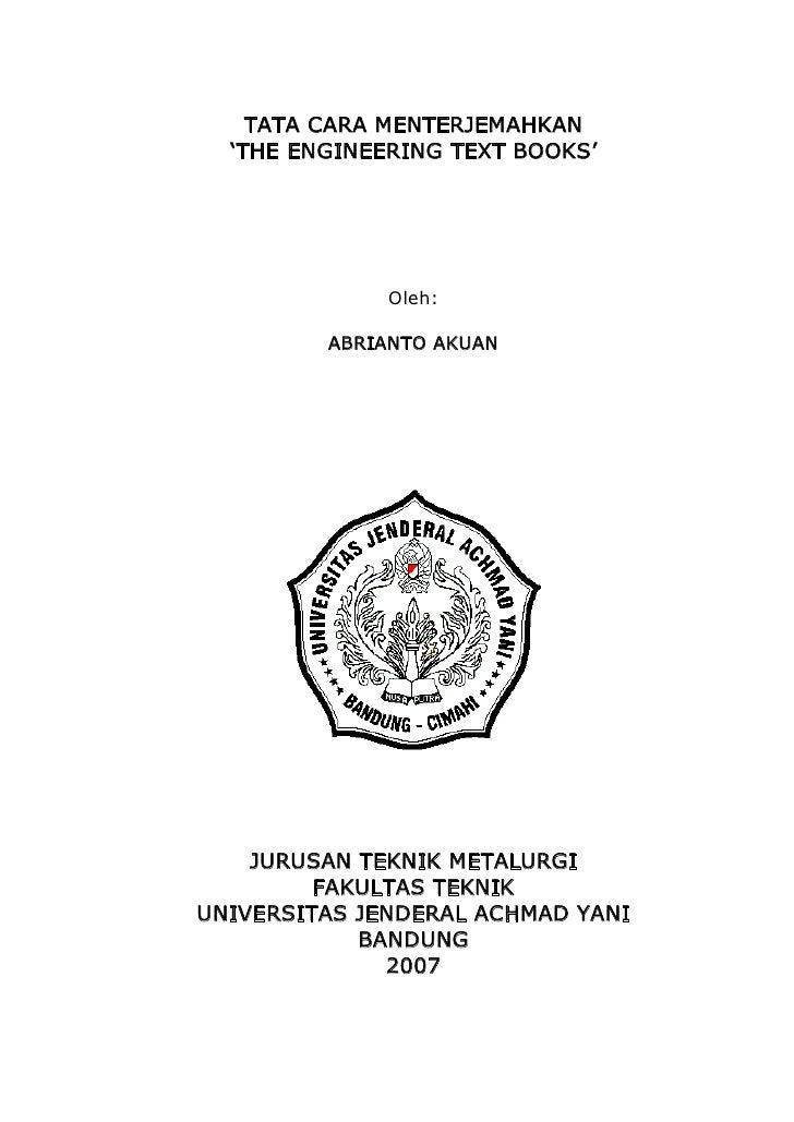 Cara menterjemahkan engineering english text book (AA)