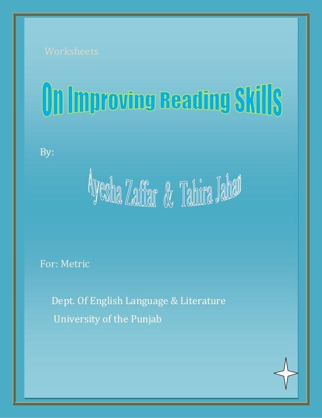 WorksheetsBy:For: MetricDept. Of English Language & LiteratureUniversity of the Punjab