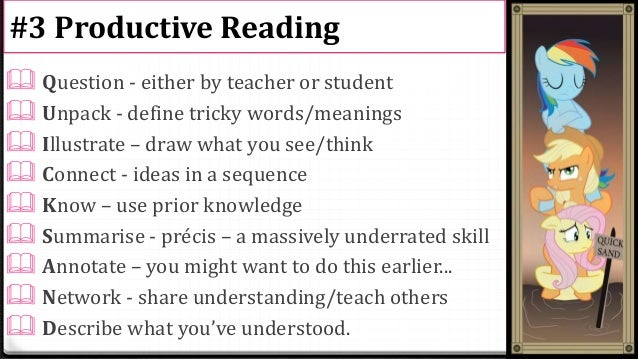 Reading skills: precis, jigsaw and chunking
