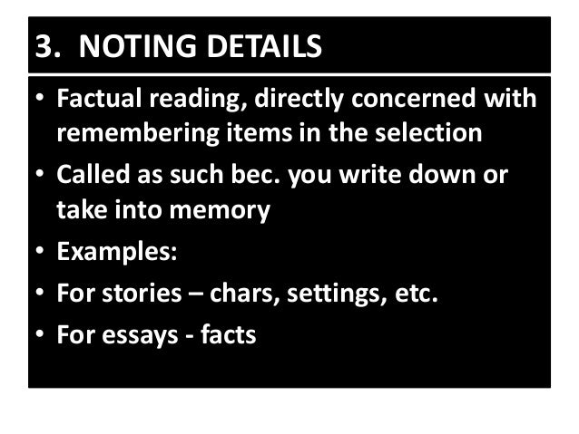 reading essay example