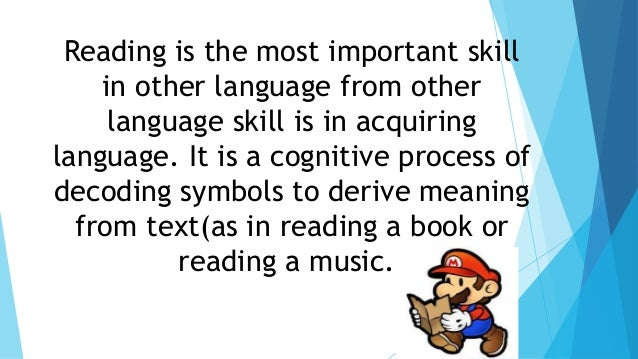 essay about reading skills How to teach reading skills 10 best practices by stacia levy 76,828 views the discourse pattern of an essay for example, may be less familiar but still important to understanding the text: that it is built around a series of topics related to one main idea or thesis.