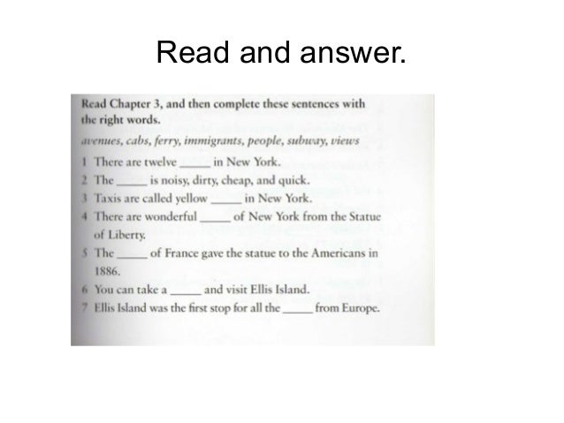 Read and answer.