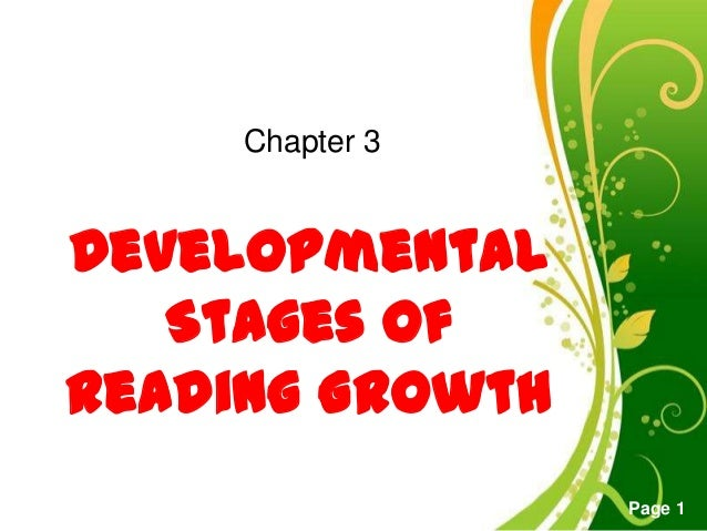 Free Powerpoint TemplatesPage 1DevelopmentalStages ofReading GrowthChapter 3