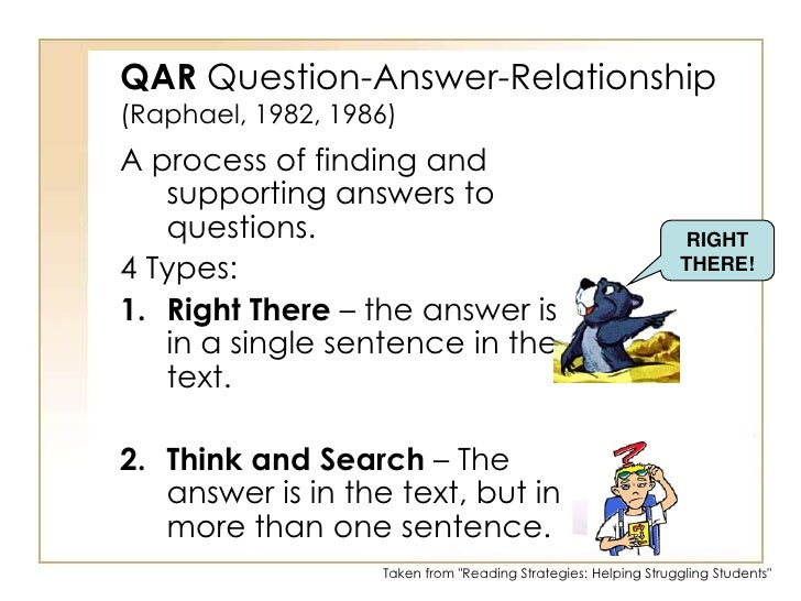 Reading strategies – Qar Worksheet