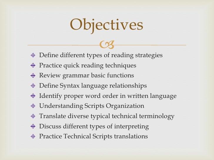 Reading strategies Slide 2