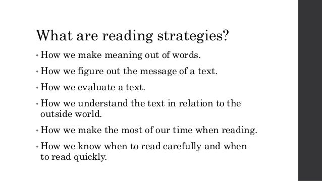 definition of reading strategies pdf