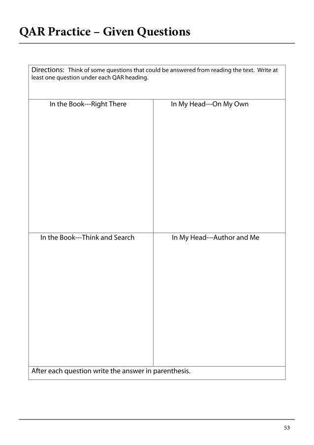 Printables Question Answer Relationship Worksheet worksheet versaldobip qar versaldobip