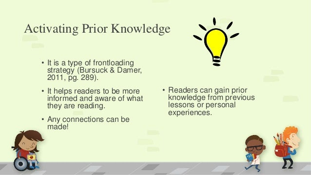 Activating Background Knowledge- A Step to Improving ...  Prior Knowledge Reading