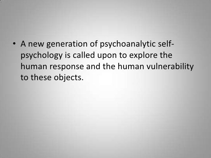 A new generation of psychoanalytic self-psychology is called upon to explore the human response and the human vulnerabilit...