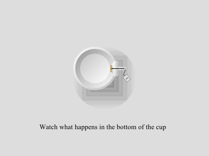 tea Watch what happens in the bottom of the cup