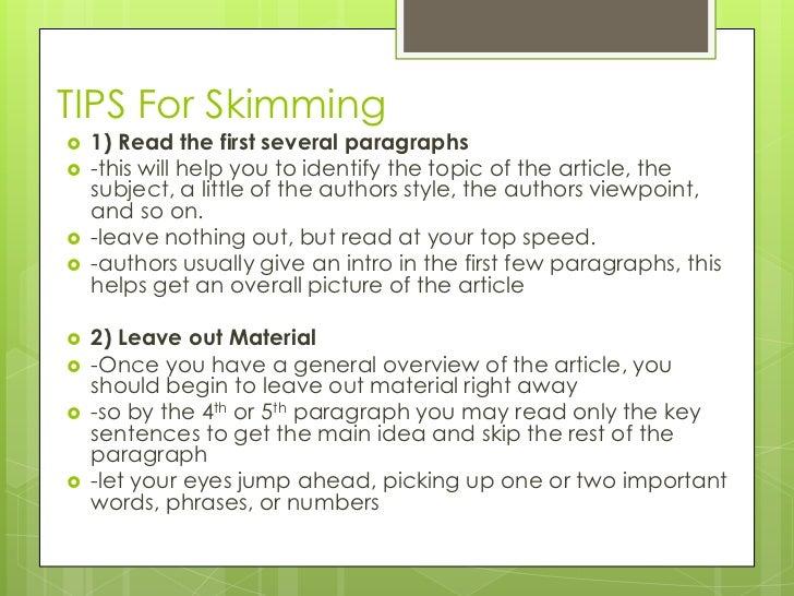skimming and scanning exercises pdf