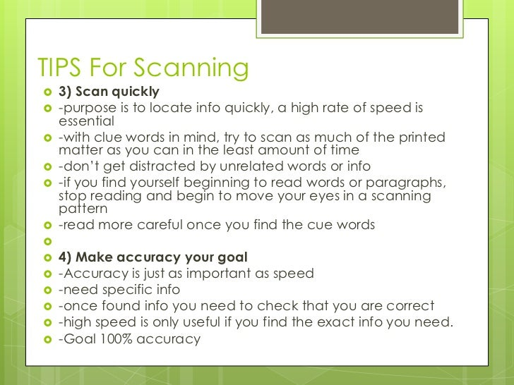 how to read a scan