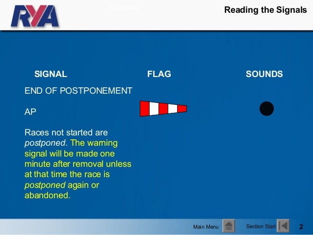 Going by the Rules - Reading the Signals Slide 2