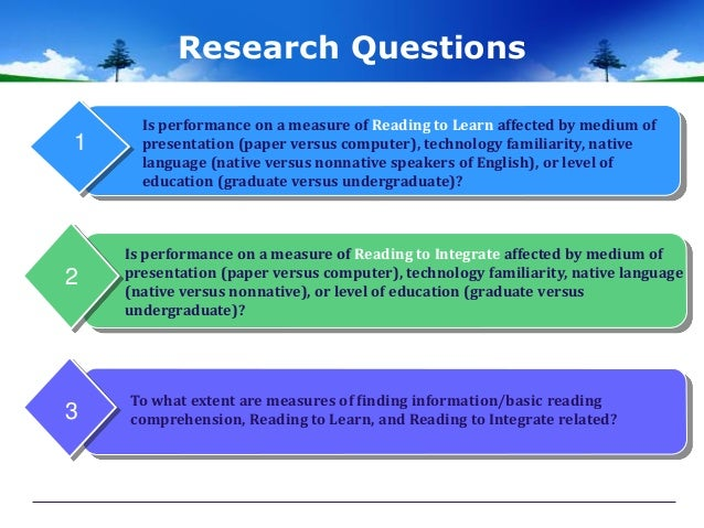 Reading Comprehension Strategies Research Paper