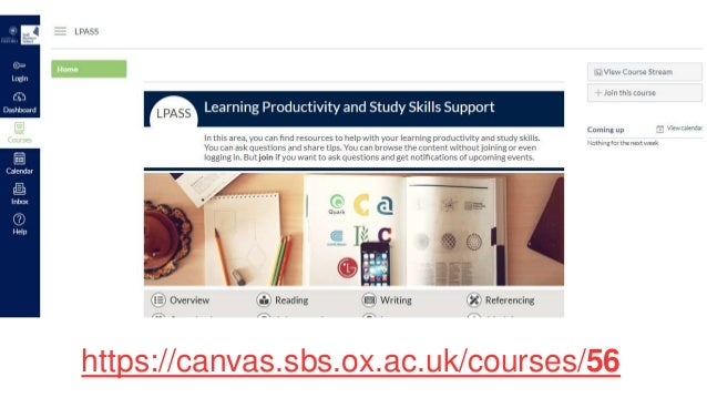 https://canvas.sbs.ox.ac.uk/courses/56