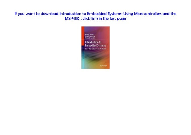 Audiobook Introduction To Embedded Systems Using Microcontrollers