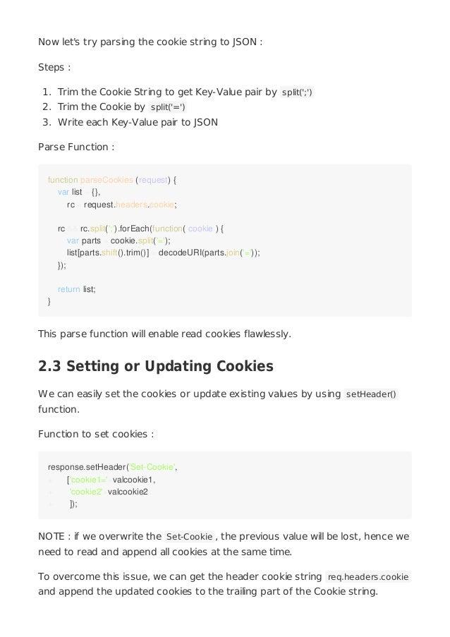 Working with Cookies in NodeJS