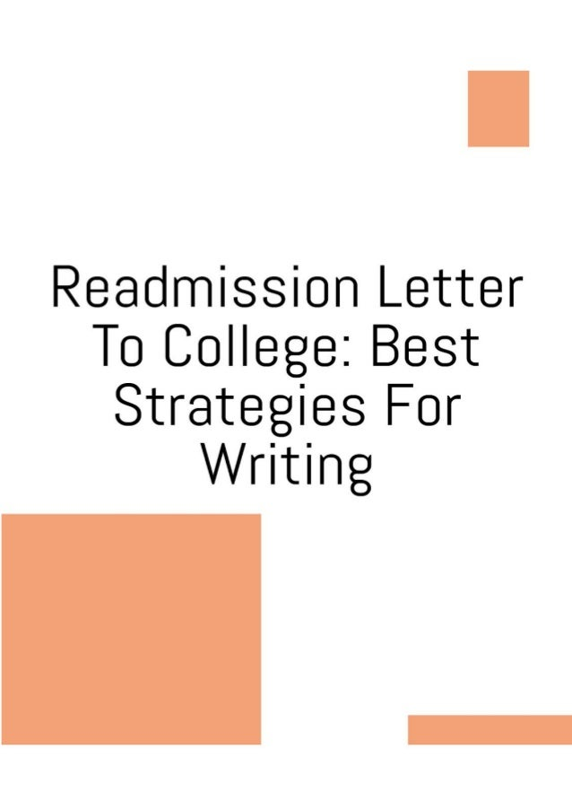 How to write a readmission letter