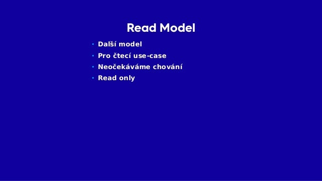 Read Model Read Model Write Model Write Use Cases Read Use Cases