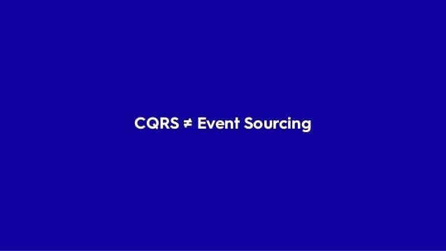 CQRS Mixujte DB Handler Vyhledávání 90% Systému
