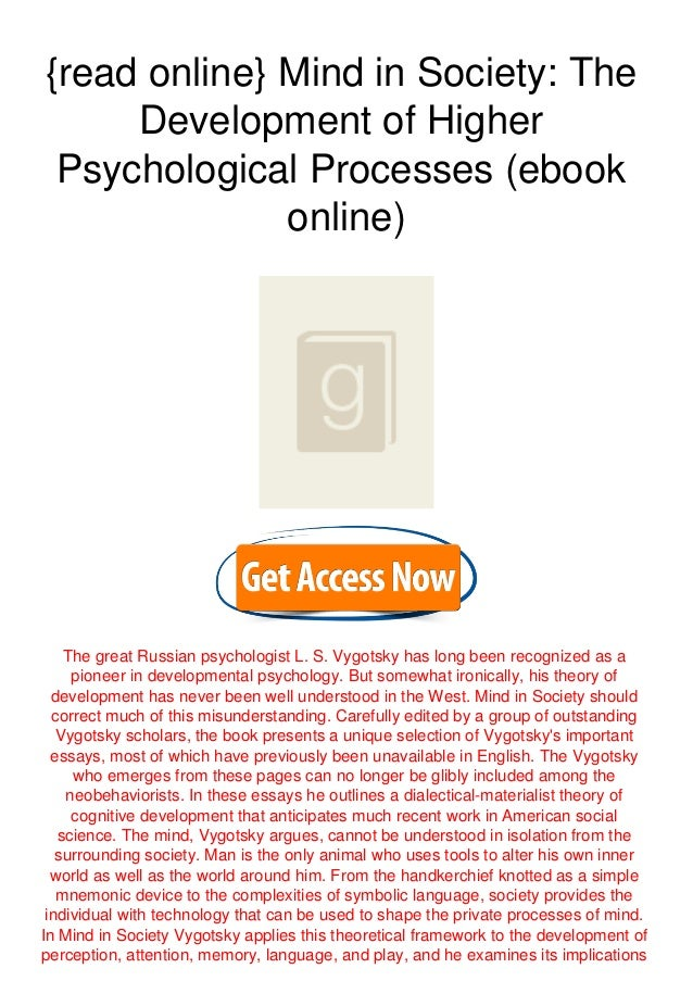{read online} Mind in Society: The Development of Higher Psychological Processes (ebook online) The great Russian psycholo...