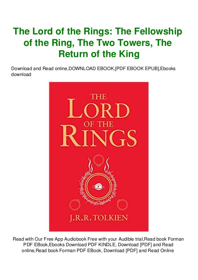 Readonline The Lord Of The Rings The Fellowship Of The Ring The Two