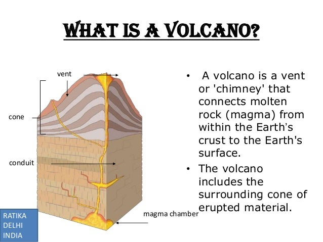 erupted material