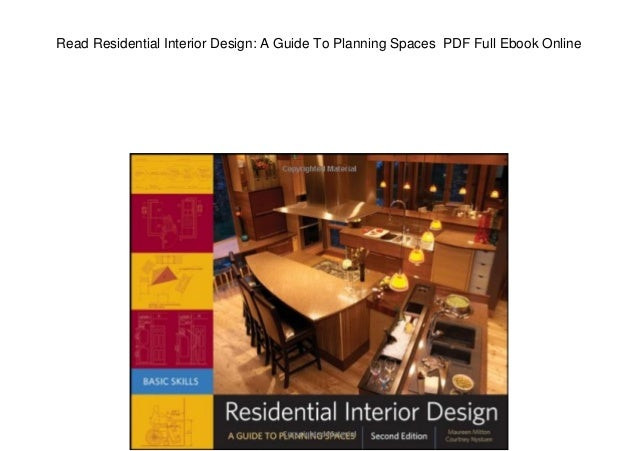 Read Residential Interior Design A Guide To Planning Spaces PDF Ful