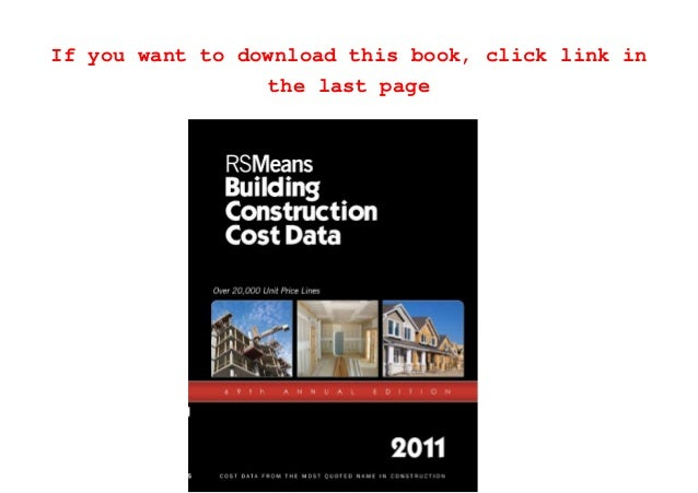 Read RSMeans Building Construction Cost Data 2011 PDF Full