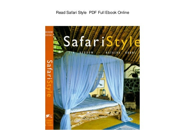 Read Safari Style PDF Full Ebook Online