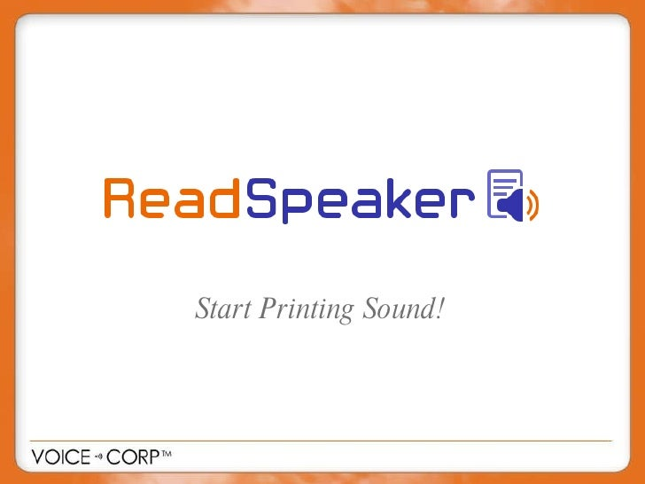 Start Printing Sound!