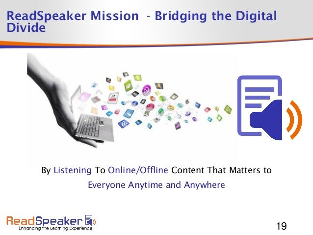 Enhancing the Learning Experience with Readspeaker