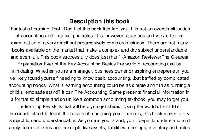 The Accounting Game Ebook