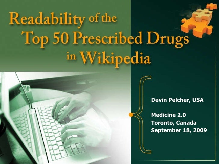 Devin Pelcher, USA<br />Medicine 2.0<br />Toronto, Canada<br />September 18, 2009<br />