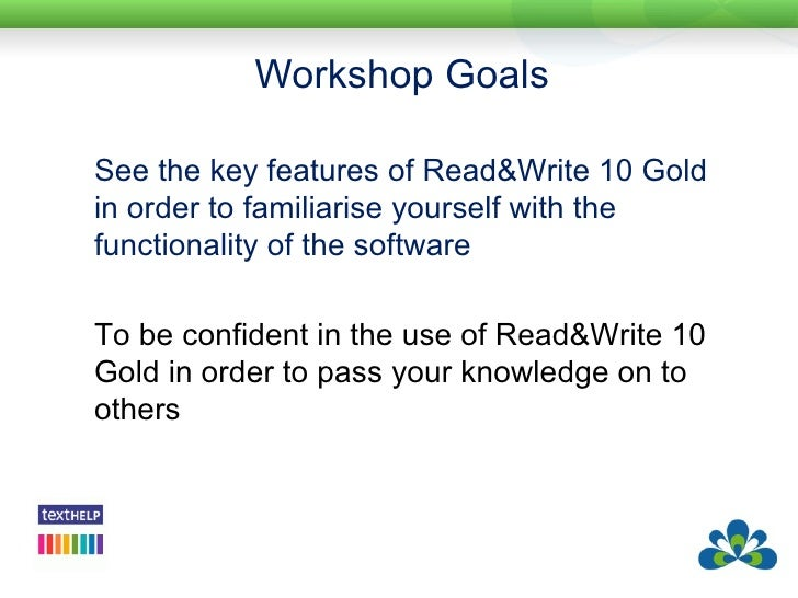 read and write gold Read & write gold for windows is a reading and writing solution for students who prefer to listen to their word documents, web pages, or pdf files instead of reading in a traditional manner.