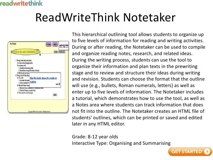 essay planner read write think