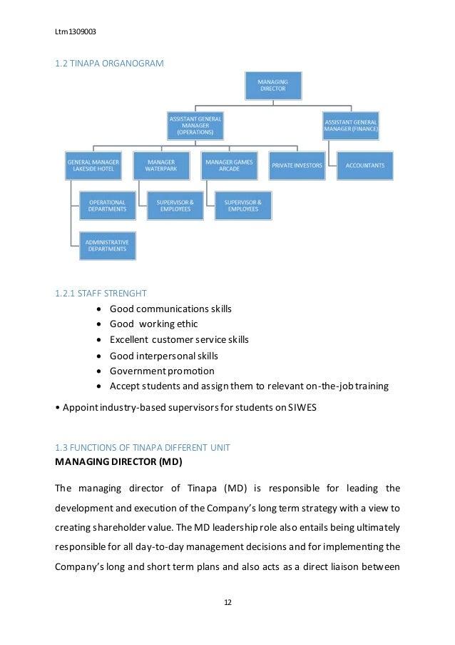 sample of siwes report