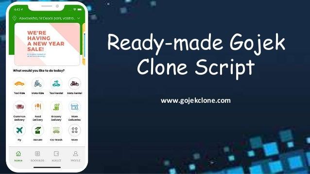 Ready-made Gojek Clone Script www.gojekclone.com