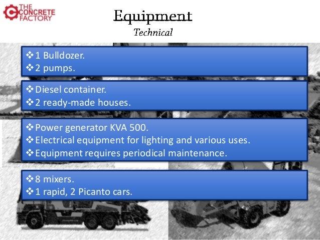 Ready mix concrete batching plant - business plan