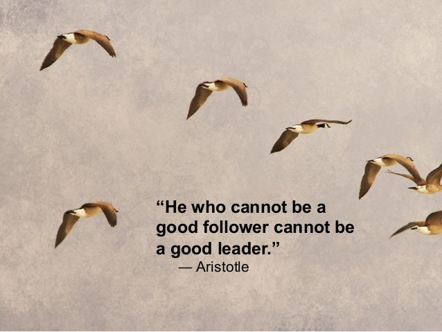 How to be a Leader and Not a Follower