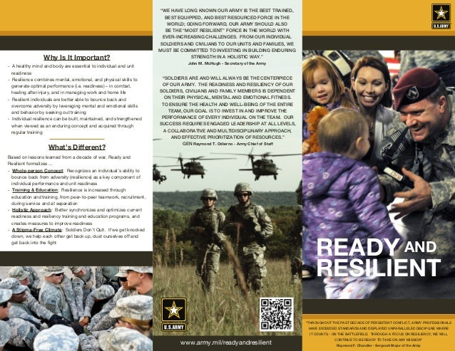 """""""SOLDIERS ARE AND WILL ALWAYS BE THE CENTERPIECE OF OUR ARMY. THE READINESS AND RESILIENCY OF OUR SOLDIERS, CIVILIANS AND ..."""