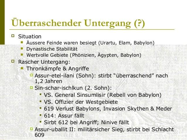 Ideologie  Expansionistische Religion  Gott Assur  König: Stellvertreter vom Reichsgott  Einziger (Haupt-)Tempel: in A...